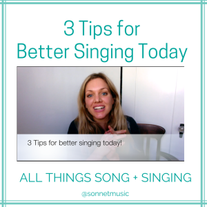 3 Tips for Better Singing