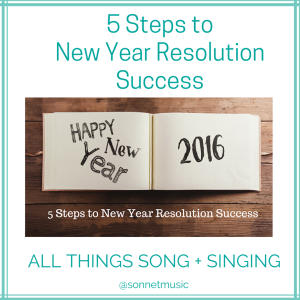 5 Steps to New Year Resolution Success